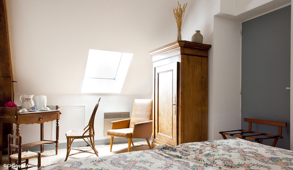 Chambre d'hôte ou gîte suite Champêtre tissus Le Manach