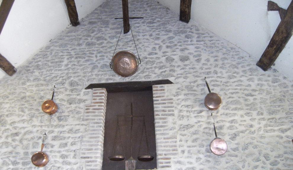 Salle de reception dans les communs du château
